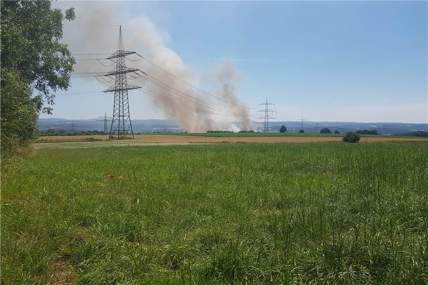 Feldbrand in Strickherdicke
