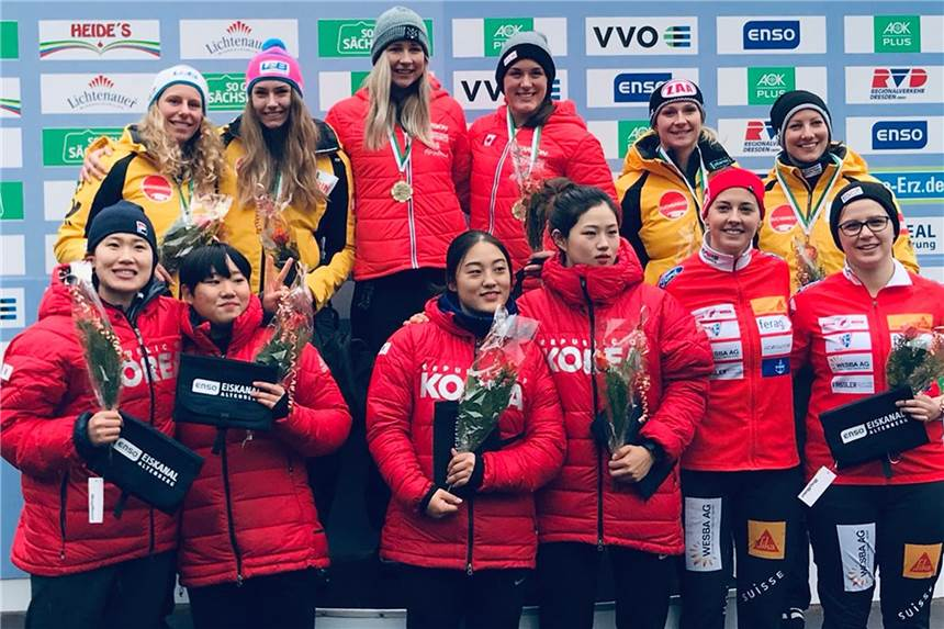 Unnas Bobpilotin Laura Nolte rast in Altenberg auf das Podium (mit Videos)