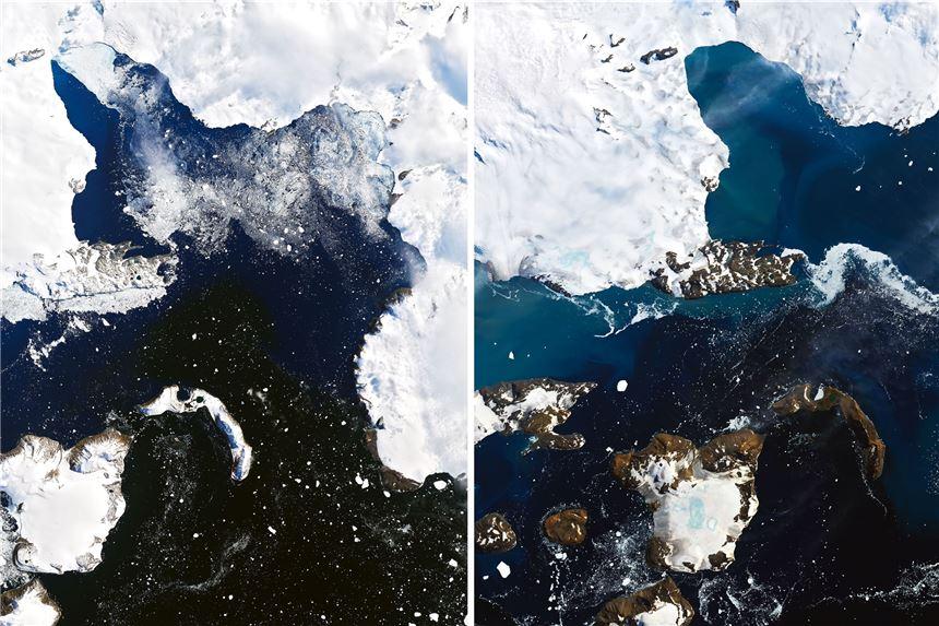 Antarktis Satellitenbilder