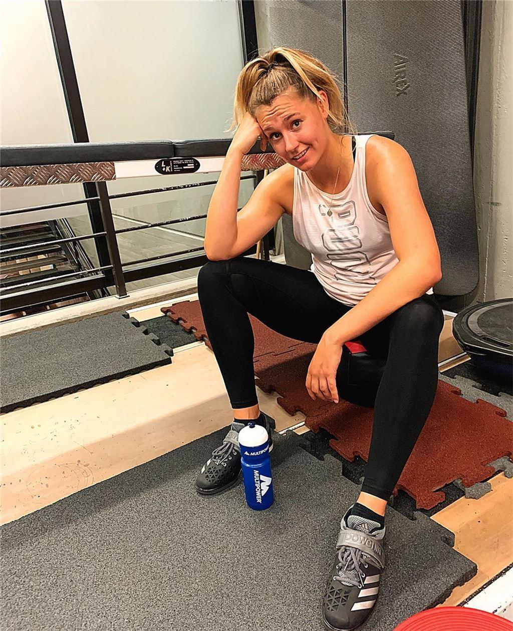 Lina Fitness hat Spaß beim Vierer