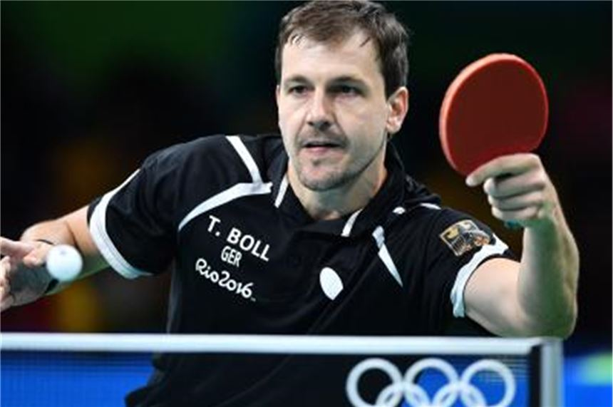 Timo Boll aus Deutschland in Aktion. Foto: picture alliance / dpa / Archivbild